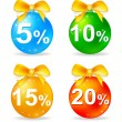Stock Vector: Christmas balls discount