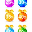 Christmas balls discount — Stock Vector