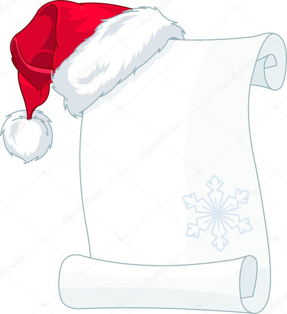 Pin christmas scroll paper with santa on pinterest for Scroll letter from santa