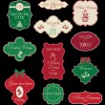 Set of Christmas vintage frames — Stock Vector #4232653