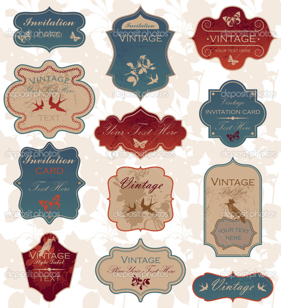 Vintage labels — Image vectorielle #4232658