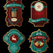 Set of Christmas vintage frames — Imagen vectorial