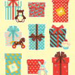 Vintage children`s gifts — Stock Vector #4456241
