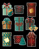 Vintage christmas gifts — Stock Vector
