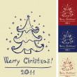 Decorative christmas tree — Imagen vectorial