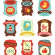 Baby labels with place for your text — Vector de stock #4854408