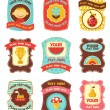 Baby labels with place for your text — Stock Vector #4877854