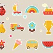 Baby icons — Vector de stock
