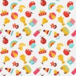 Stock vektor: Children seamless vector pattern