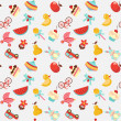 Children seamless vector pattern - Grafika wektorowa