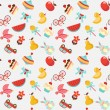 Children seamless vector pattern - Vettoriali Stock