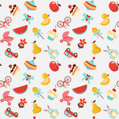 Children seamless vector pattern — ストックベクタ