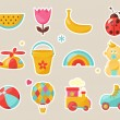 Stockvector : Baby icons