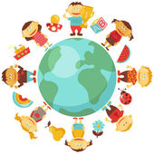 Children around the World — Stock Vector
