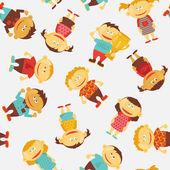 Barn sömlös vektor mönster — Stockvektor
