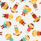 Crianças sem costura vetor padrão — Vetorial Stock