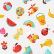Stok Vektör: Children seamless vector pattern
