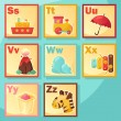 Royalty-Free Stock Immagine Vettoriale: Cute cartoon alphabet