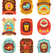 Baby labels with place for your text — Stock Vector #4909783