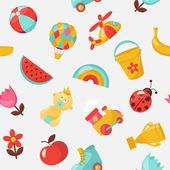 Children seamless vector pattern — Vettoriale Stock