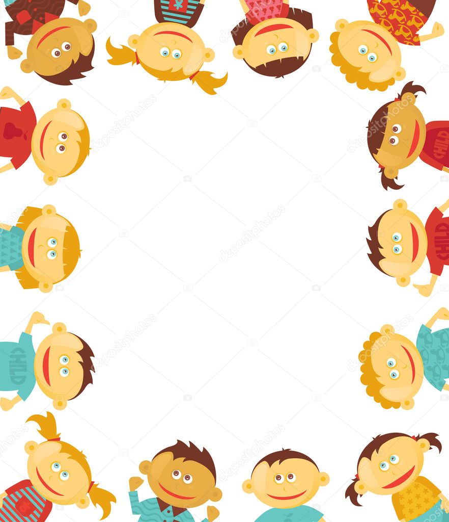 Children border illustration — Stock Vector #4905014