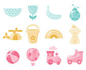 Baby icons — Stockvector