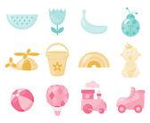 ícones de bebê — Vetorial Stock