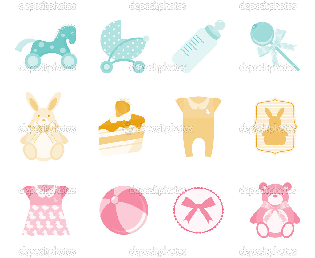Baby icons   Stock Vector #4949072