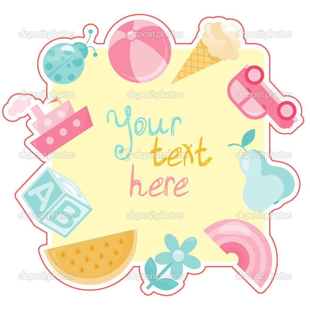 Baby frame with place for your text — Stock Vector #4949111