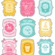 Baby labels with place for your text — Stock Vector #5027854