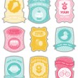 Baby labels with place for your text — Stock Vector #5027856