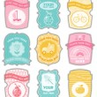 Baby labels with place for your text — Stock Vector #5027861