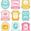Baby labels with place for your text — Stock Vector #5027863