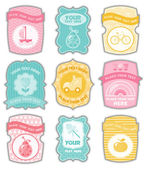 Baby labels with place for your text — Stok Vektör