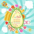Easter frame - Stock vektor