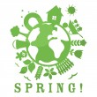 Spring illustration - Stockvectorbeeld