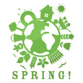 иллюстрация весна — Cтоковый вектор