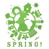 Ilustración de primavera — Vector de stock