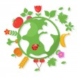 Various Fruits and Vegetables around the World — ベクター素材ストック