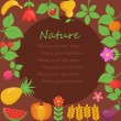 Various Fruits and Vegetables border — Imagens vectoriais em stock