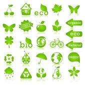 Ekoloji tasarım öğeleri — Stok Vektör