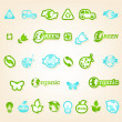 Stock vektor: Ecology icon set