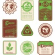 Ecology labels — Vektorgrafik
