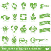 Grunge ecology design elements — Stockvector