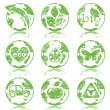 Grunge ecology symbols - Stockvectorbeeld