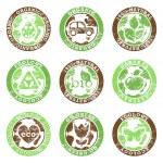 Grunge ecology symbols — Stock Vector