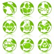 Glossy ecology symbols — Stock Vector #5164828