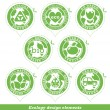 Stock vektor: Ecology stickers