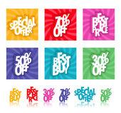 Signes de détail multicolore — Vecteur