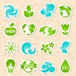 Royalty-Free Stock Vector Image: Glossy nature and water symbols